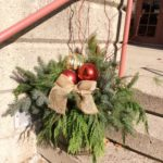 Horticultural Society volunteers filled the Christmas urns at Annandale National Historic Site.